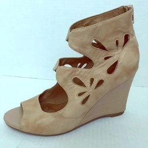 Miz Mooz Womens Wedge Sandals Leather Tino